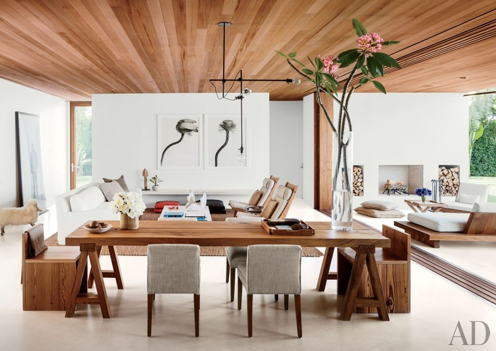 Contemporary Dining Room by 1100 Architect in Palm Beach, Florida