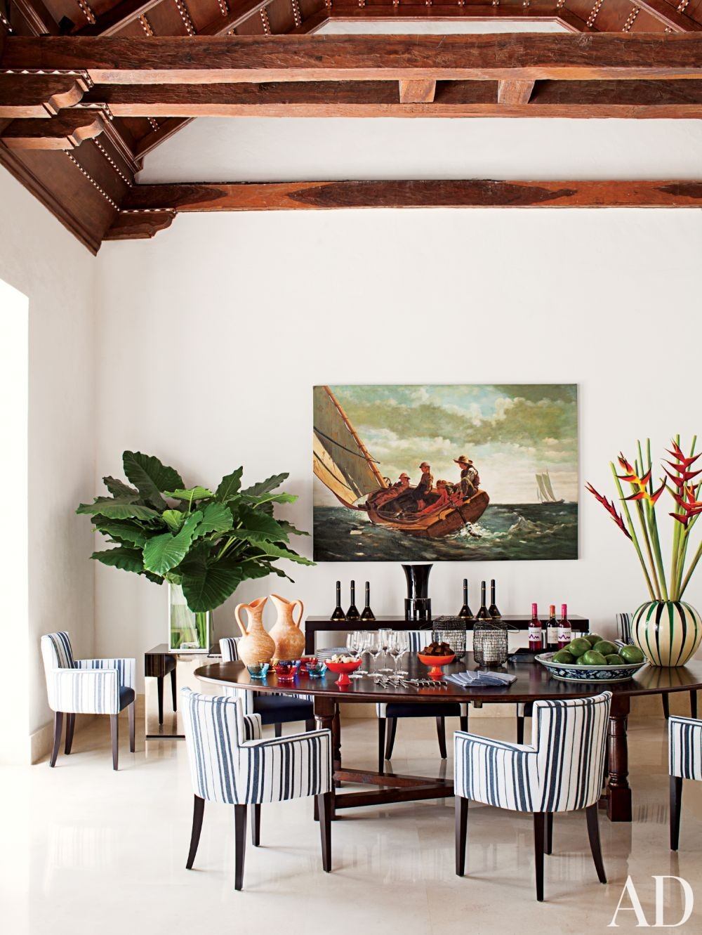 Contemporary Dining Room by Richard Mishaan Design in Cartagena, Columbia