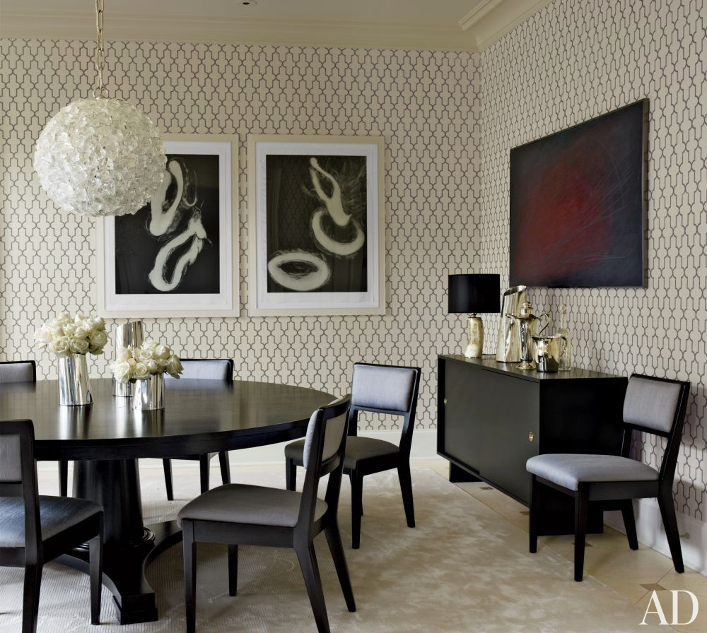 Contemporary Dining Room by S. Russell Groves in Raleigh, North Carolina