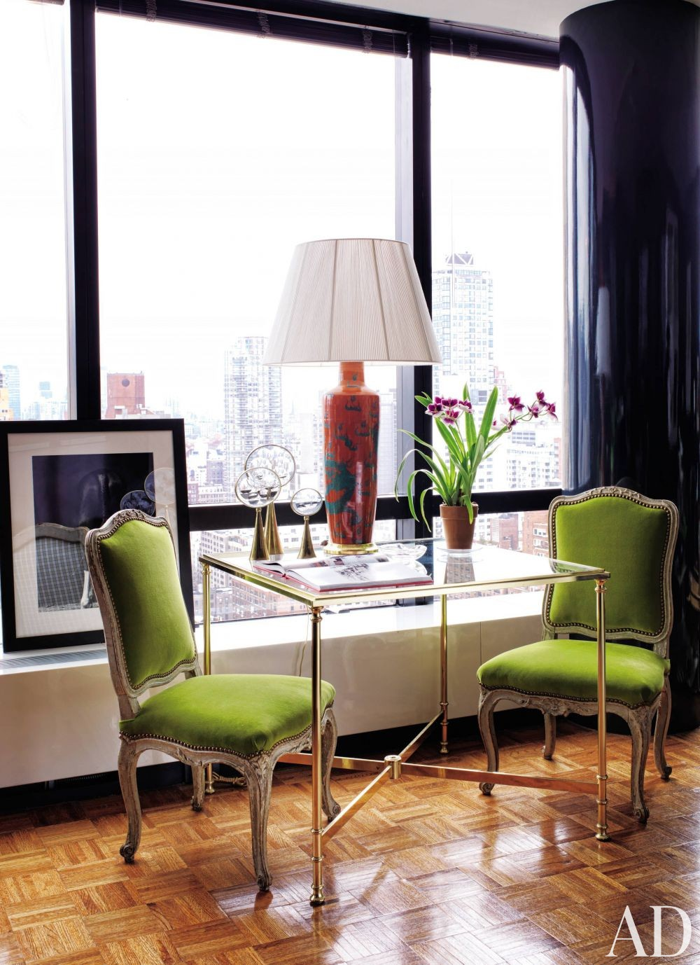 Contemporary Dining Room by Todd Alexander Romano in New York, New York