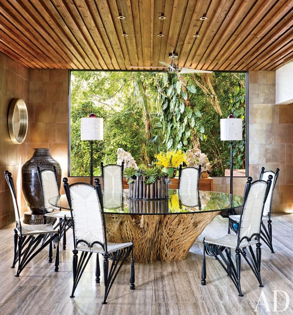 Contemporary Dining Room by Tony Ingrao and Randy Kemper in St. John, U.S. Virgin Islands