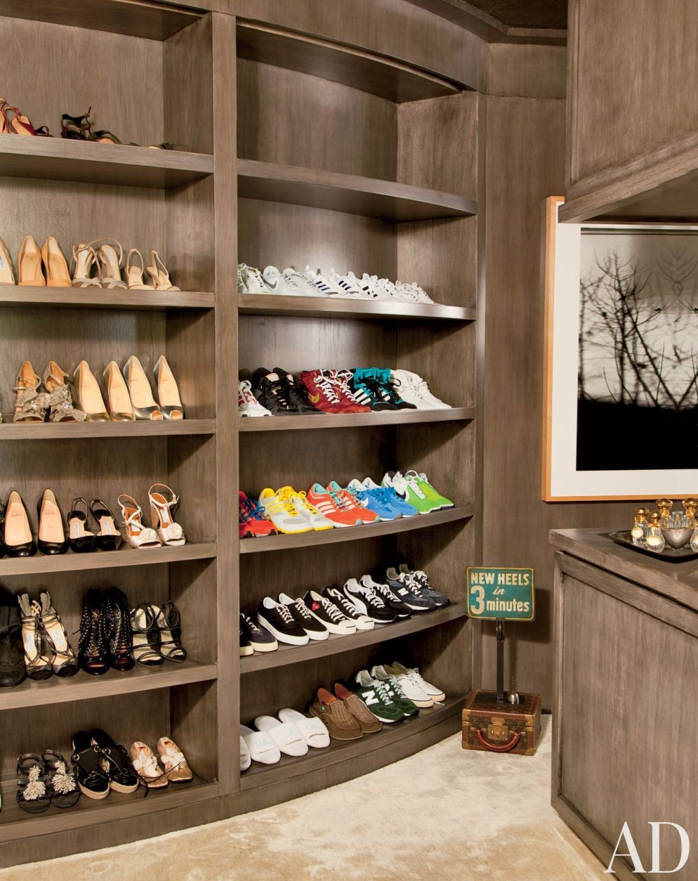 Contemporary Dressing Room/Closet in Beverly Hills, California