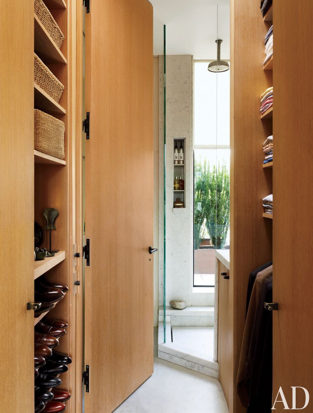 Contemporary Dressing Room/Closet by Len Morgan in New York, New York