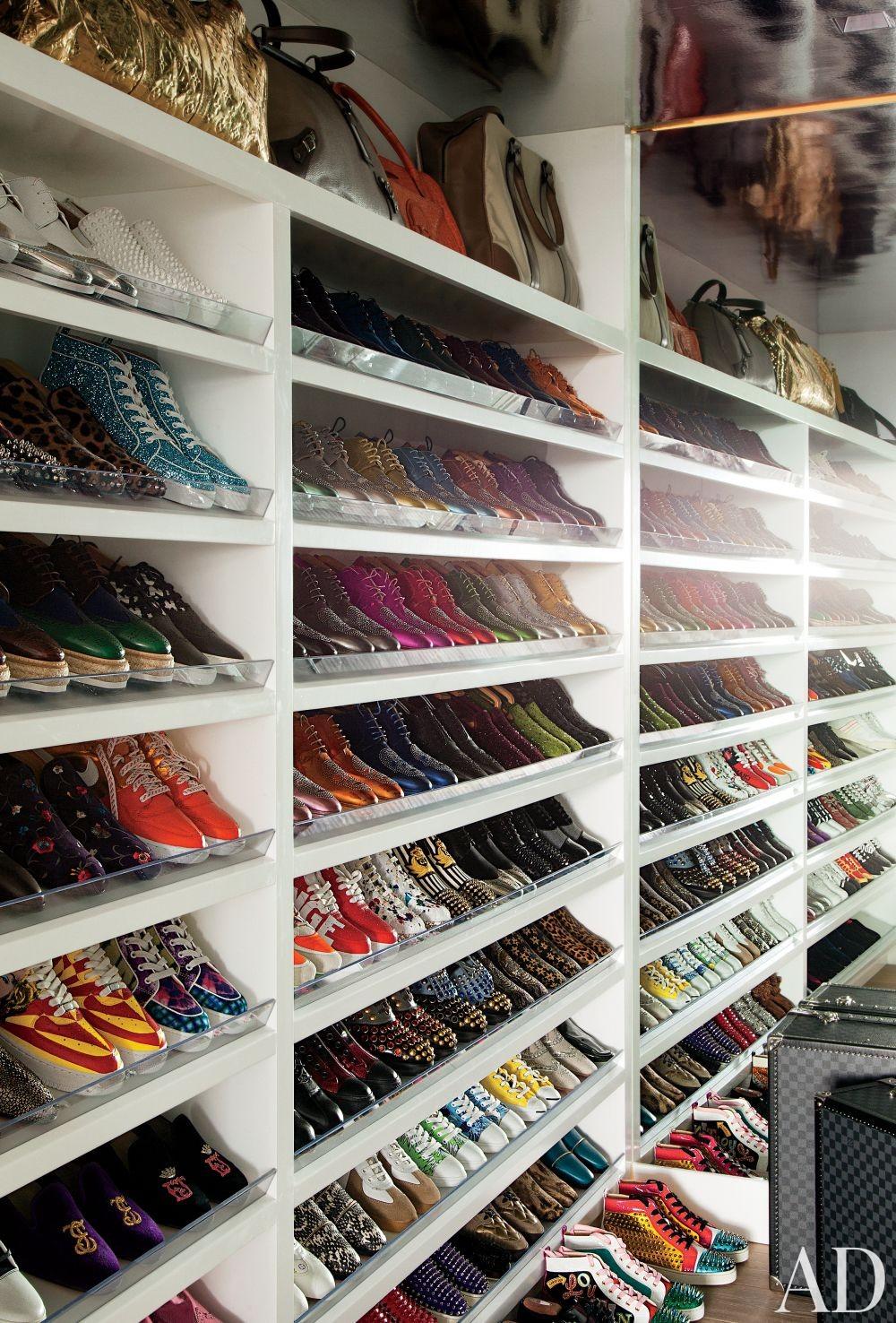 Contemporary Dressing Room/Closet by Martyn Lawrence Bullard Design in Los Angeles, California