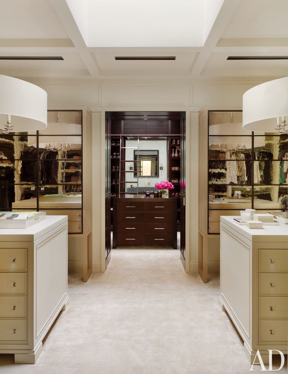 Contemporary dressing room closet by mcalpine booth for His and hers wardrobe