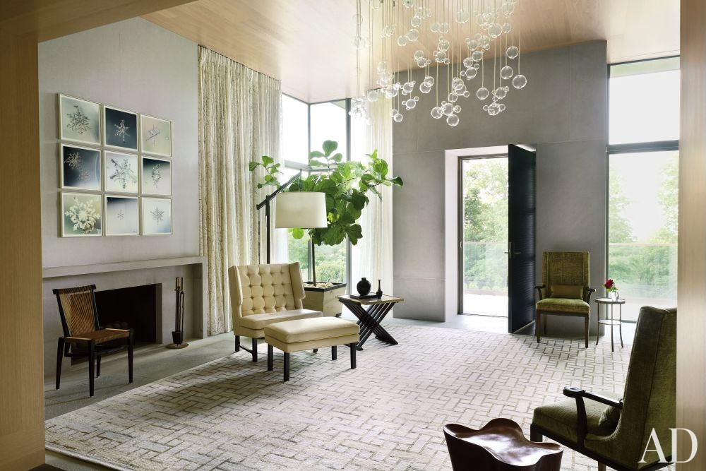 Contemporary Entrance Hall by McAlpine Booth & Ferrier Interiors and DA|AD in Nashville, Tennessee