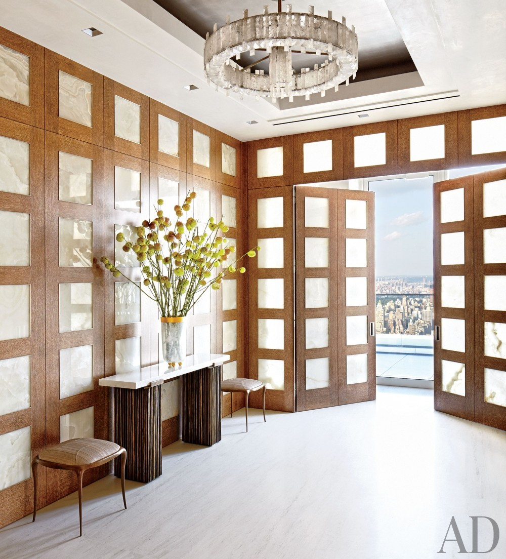 Contemporary Entrance Hall by Rockwell Group and Rockwell Group in New York, New York