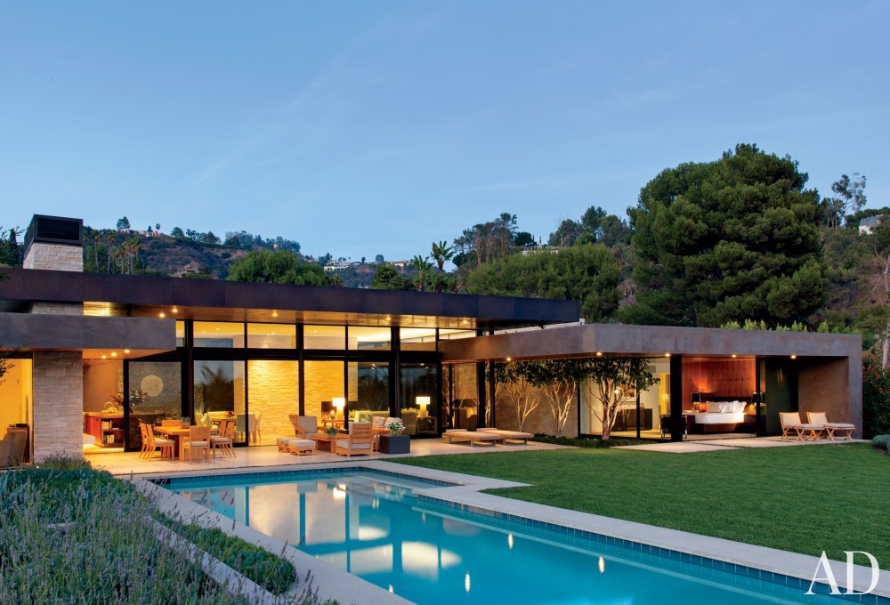 Contemporary Exterior by Boehm Design Associates and Marmol Radziner in Beverly Hills, California