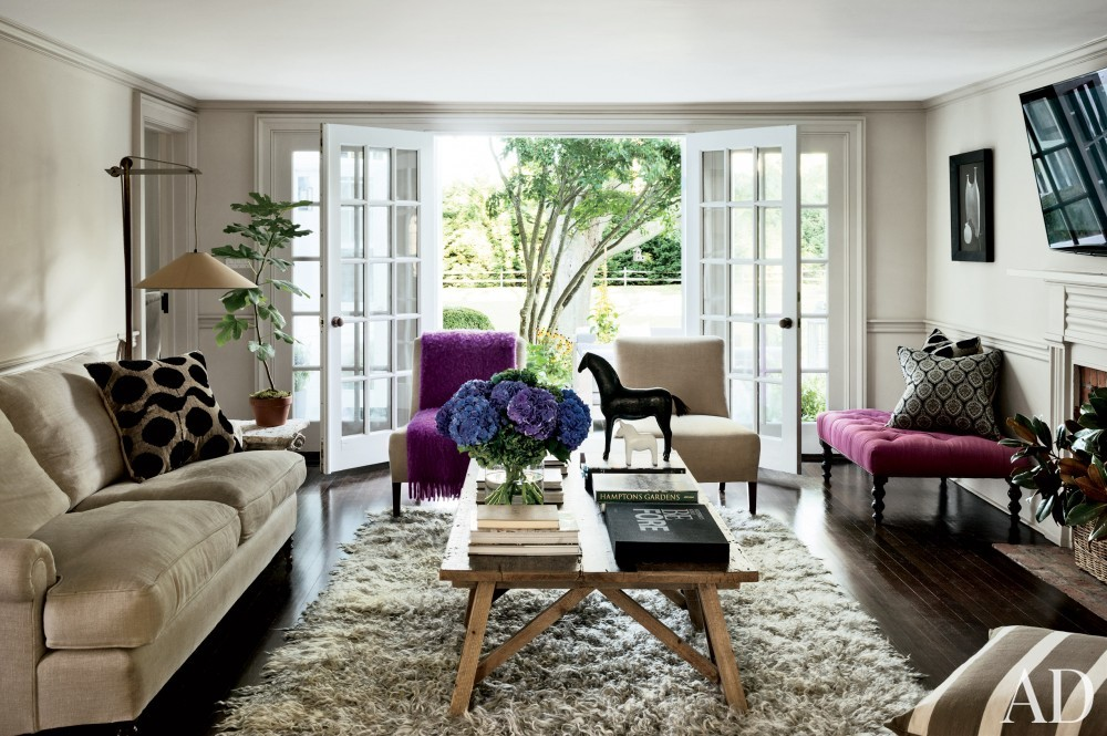 Contemporary Family Room by Rebecca Bond in Bridgehampton, New York