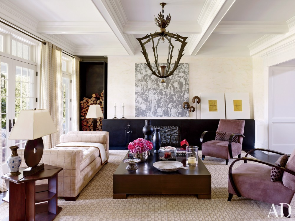 Contemporary Great Room by Juan Montoya Design in Southampton, NY