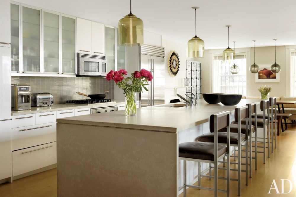 Contemporary Kitchen by Christine Markatos Design and Leroy Street Studio in New York, New York