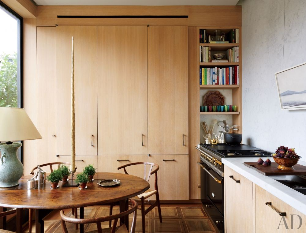 Contemporary Kitchen by Len Morgan in New York, New York