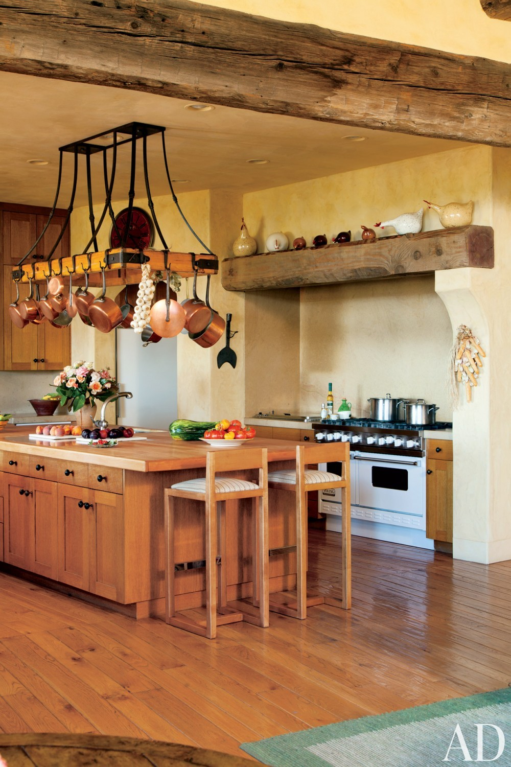 Contemporary Kitchen by Mica Ertegun and Walker & Moody Architects in Sonoma Valley, CA