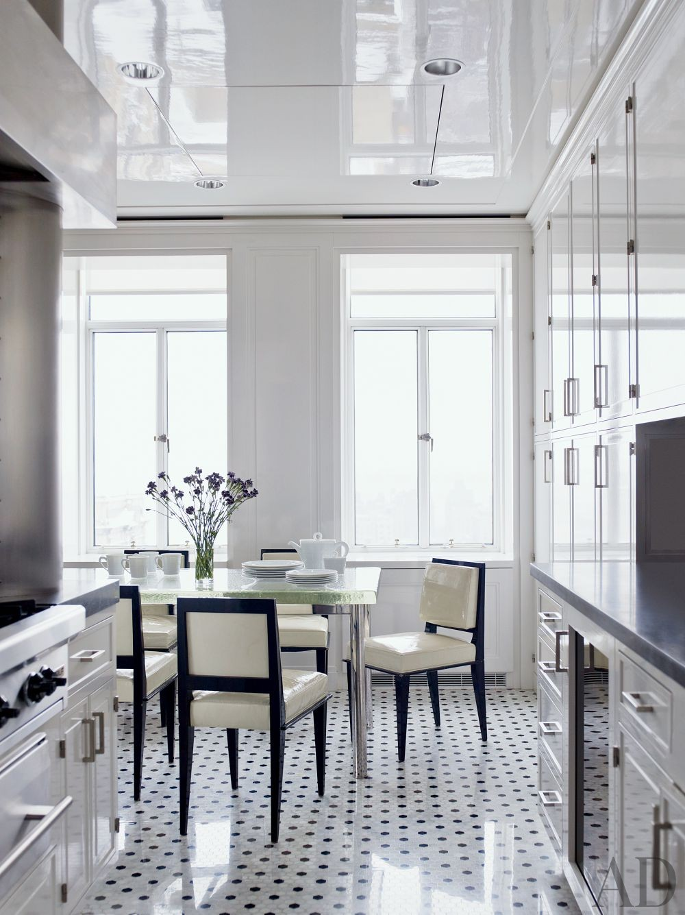 Contemporary Kitchen by Pamplemousse Design and Ferguson & Shamamian Architects in New York City