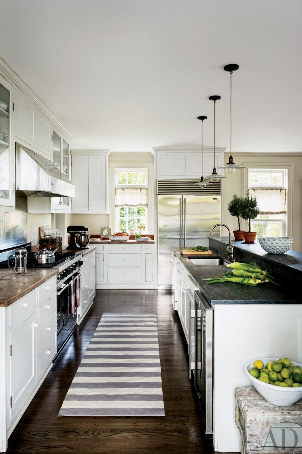 Contemporary Kitchen by Rebecca Bond in Bridgehampton, New York