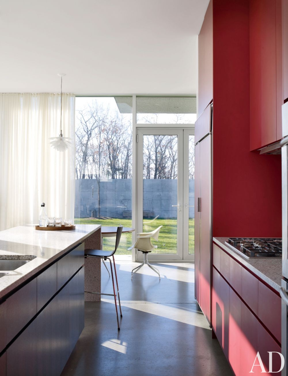 Contemporary Kitchen by Toshiko Mori Architect in Hudson Valley, New York