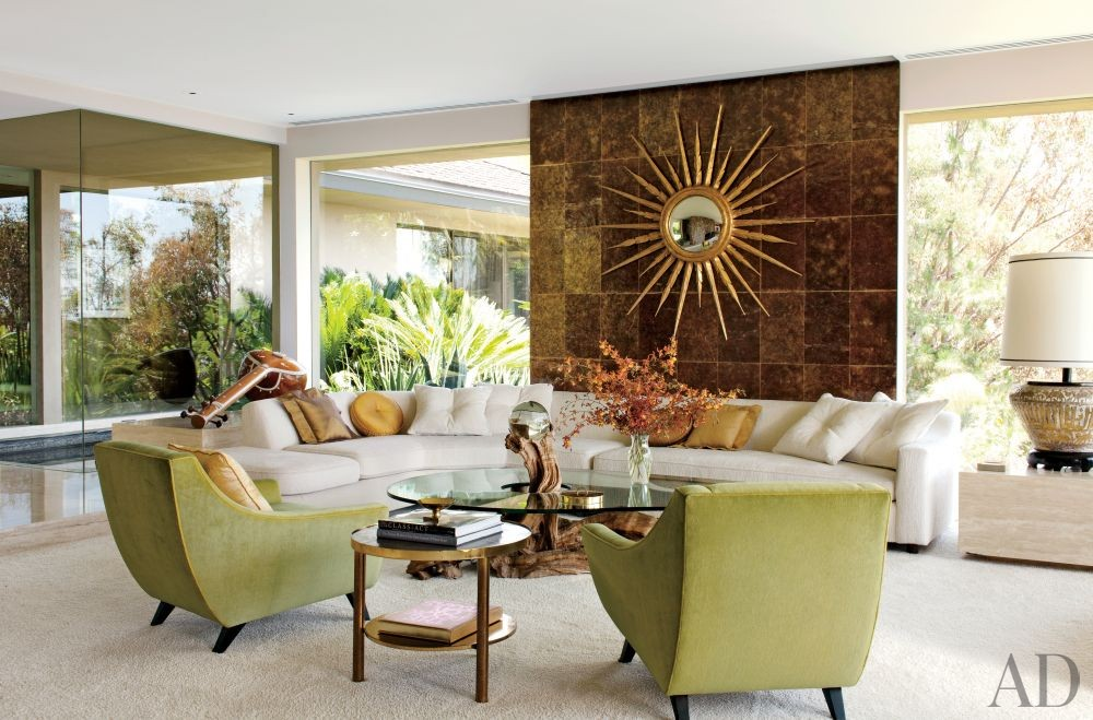 Contemporary Living Room by Brad Dunning and Marmol Radziner + Associates in Beverly Hills, California