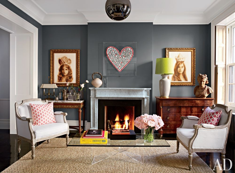 Contemporary Living Room by David Flint Wood and MADE in New York, New York