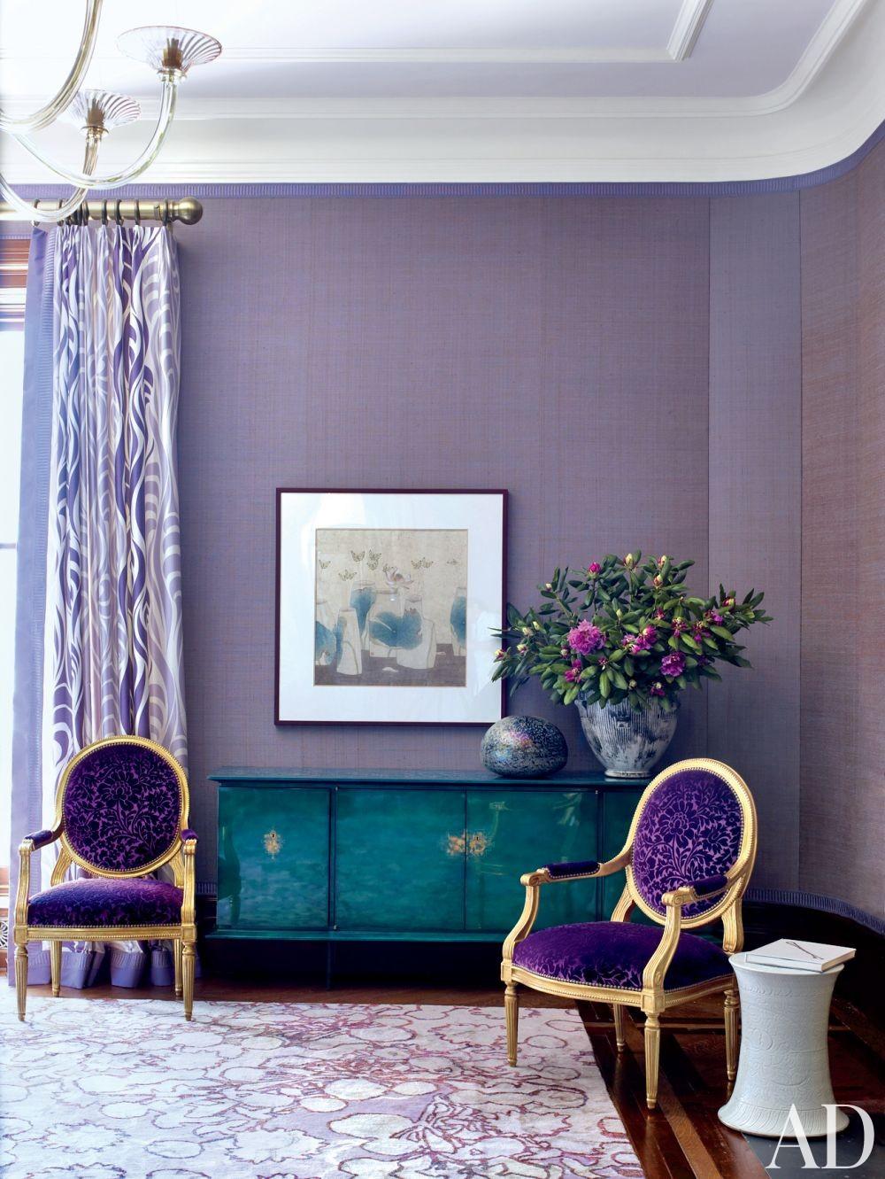 Contemporary Living Room by Drake Design Associates in New York, New York