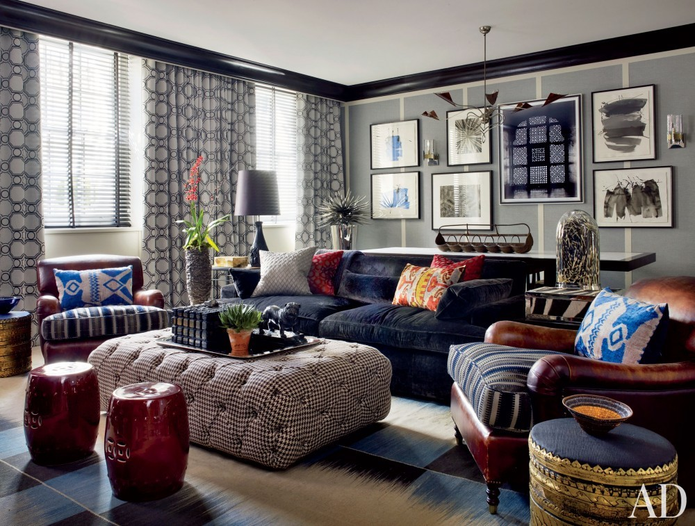Contemporary Living Room by Hubert Zandberg and Jan Swanepoel in London, England