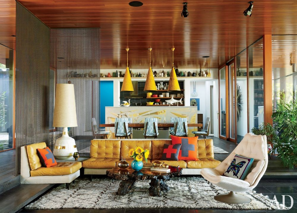 contemporary living room by jonathan adler and gray organschi architecture in shelter island new york