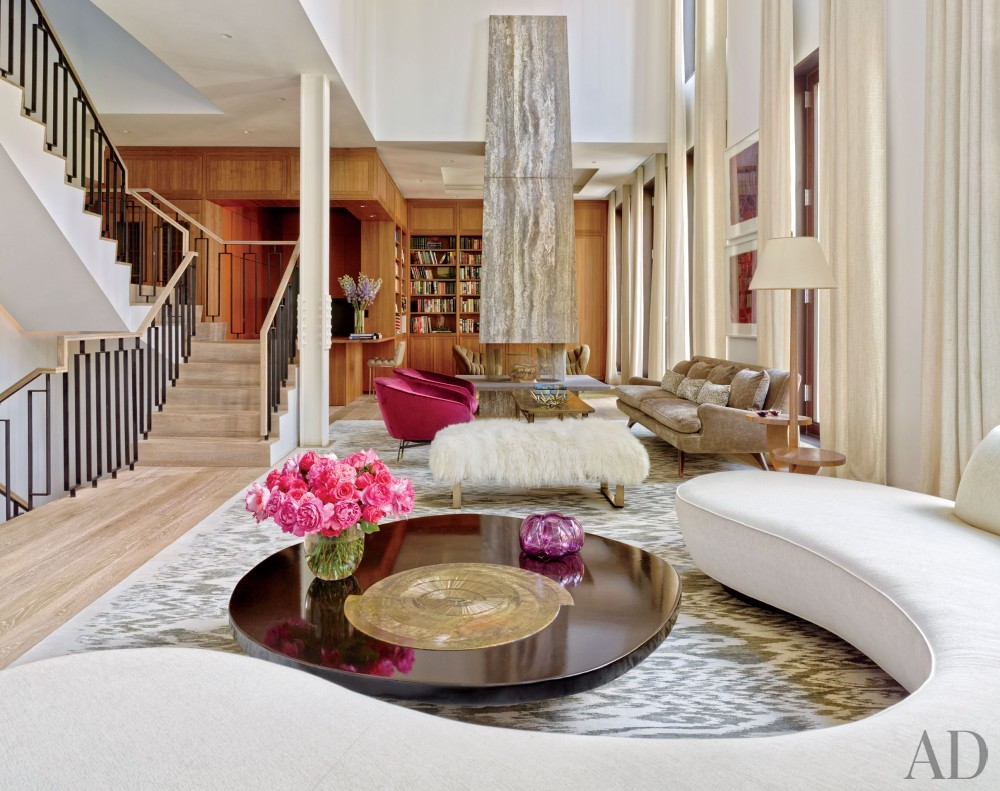 Contemporary Living Room by Laura Santos and 1100 Architect in New York, New York