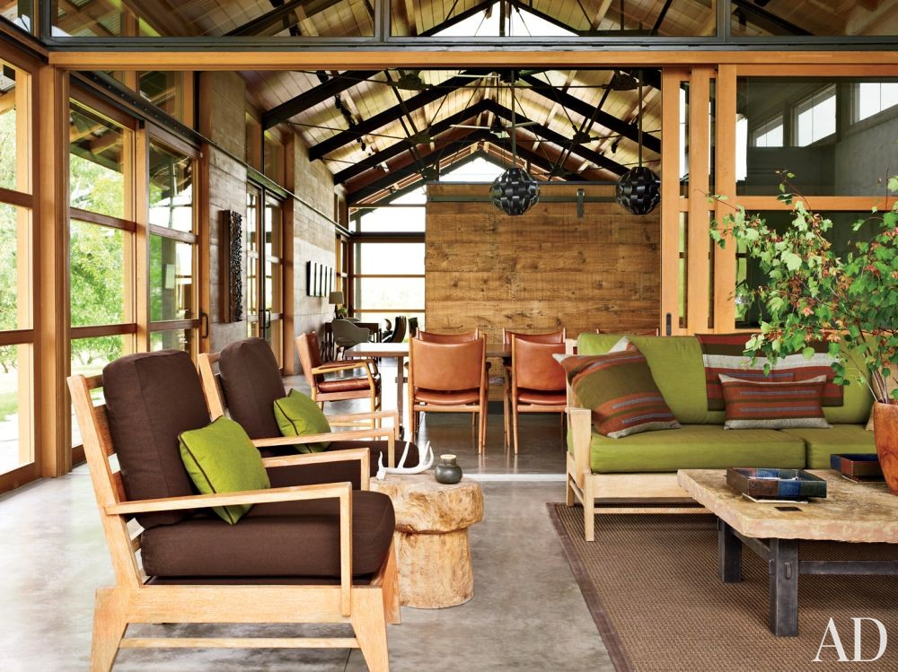 Contemporary Living Room by Madeline Stuart & Associates and Lake | Flato Architects in Montana