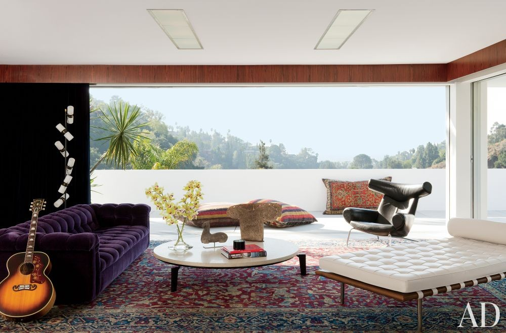 Contemporary Living Room by Mark Haddawy in Los Angeles, California