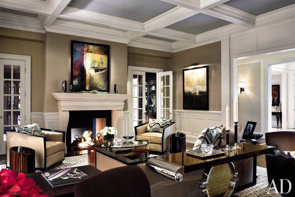 Contemporary Living Room by Martin P. Mitchell and James Paragano in New Jersey