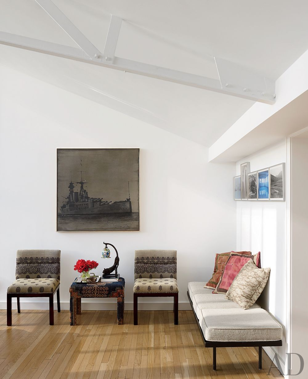 Contemporary Living Room by Milly de Cabrol Ltd. and Risteárd Keating in New York, New York