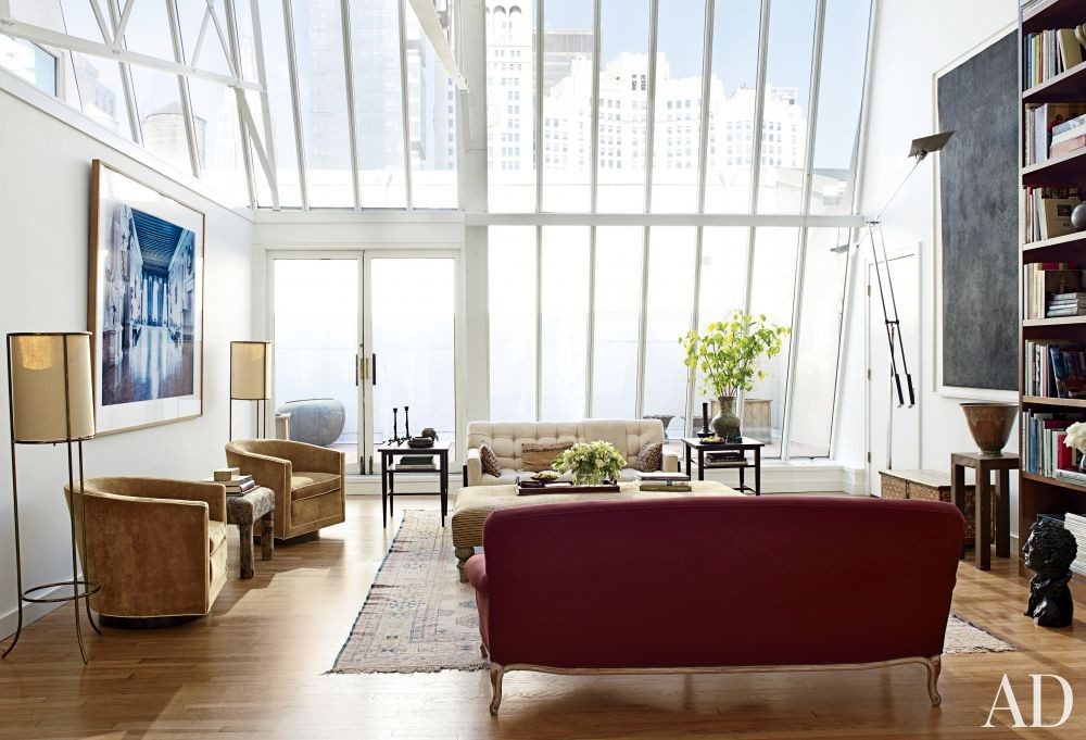 contemporary living room by milly de cabrol ltd and modern kitchen by mac ii by architectural digest ad