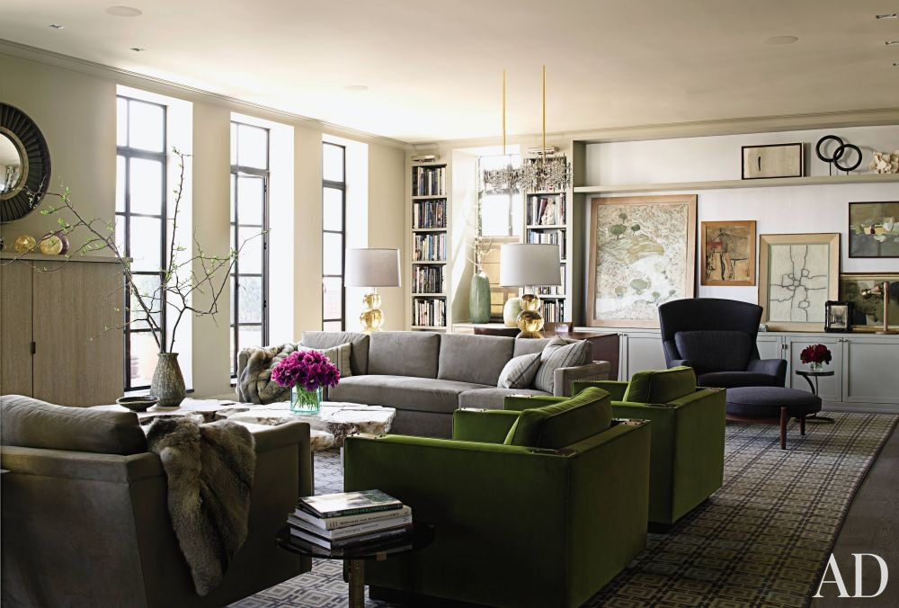 contemporary living room by janson goldstein by