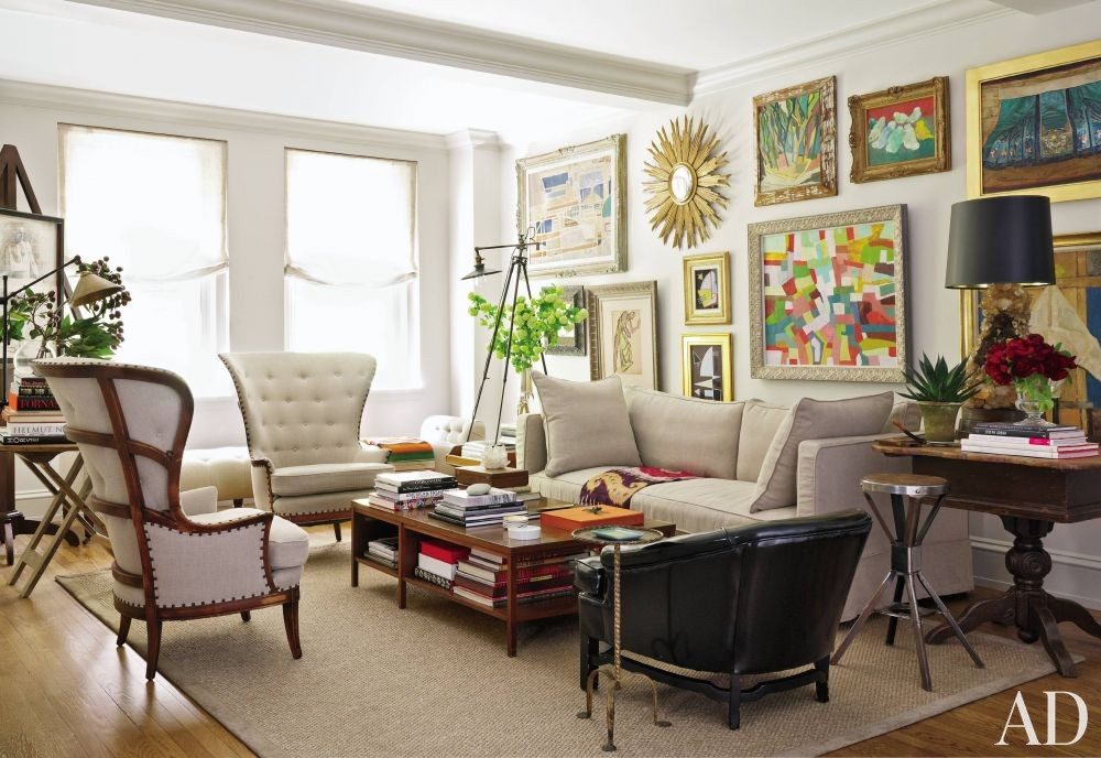 Contemporary Living Room in New York, New York