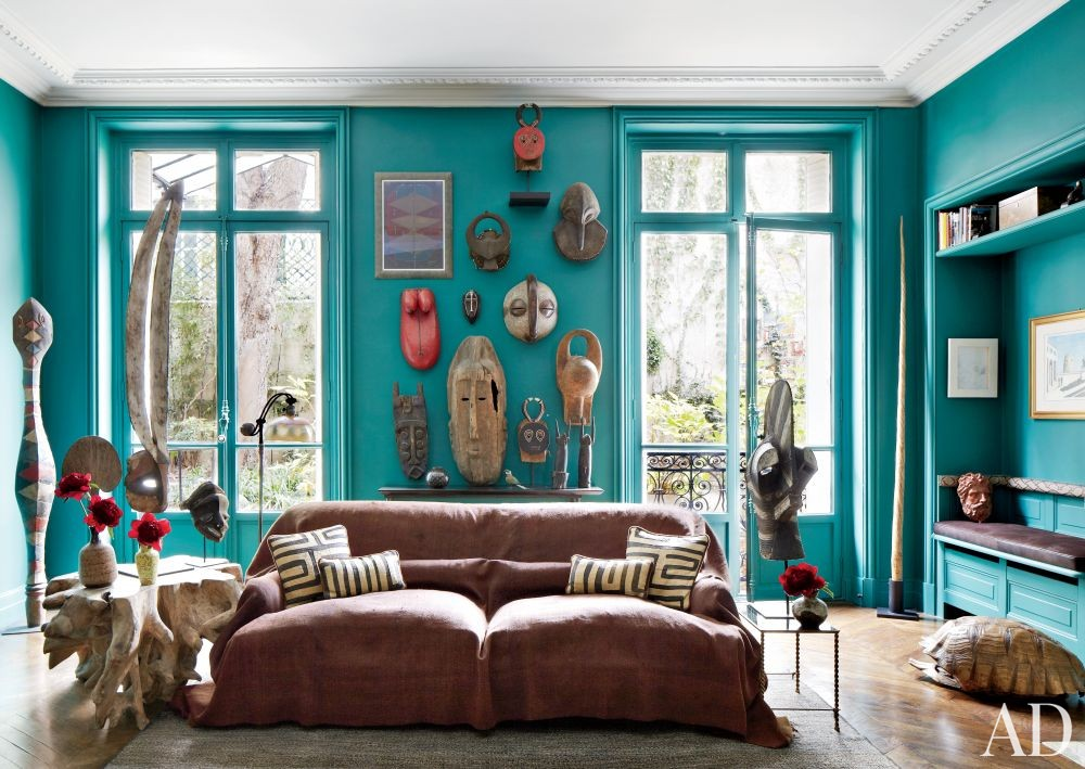 Contemporary Living Room and Bruno Caron Architectes in Paris, France