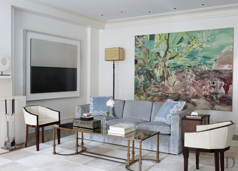 Contemporary Living Room by Penny Drue Baird and Design Laboratories in New York City