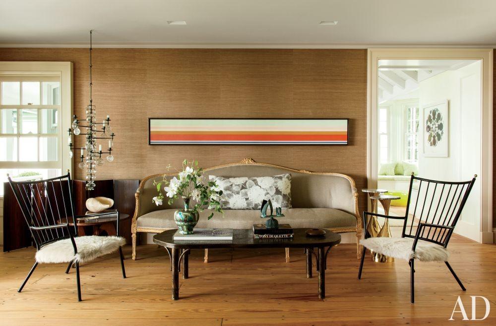 Contemporary Living Room by Piccione Architecture & Design and Piccione Architecture & Design in Shelter Island, New York