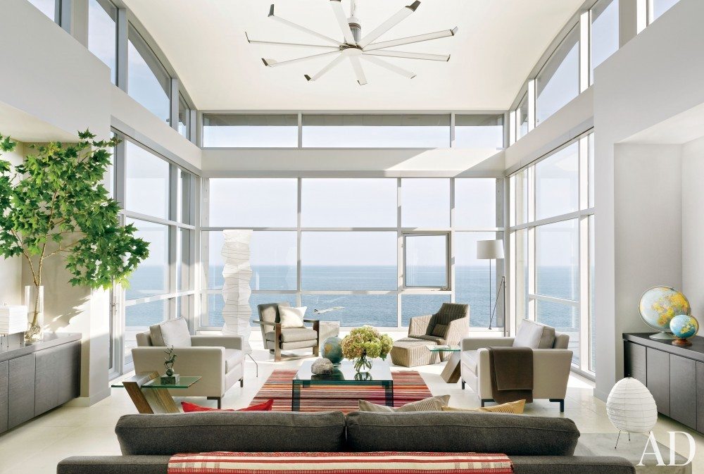 Contemporary Living Room By Ray Frizzell Design By Architectural Digest Ad Designfile Home