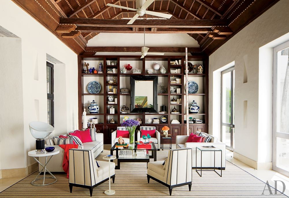 Contemporary Living Room by Richard Mishaan Design in Cartagena, Columbia
