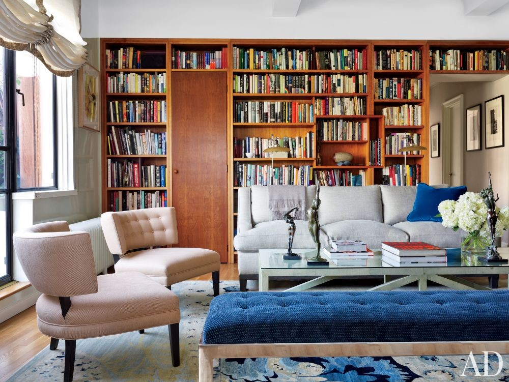Contemporary Living Room by Robert Couturier Inc. in New York, New York