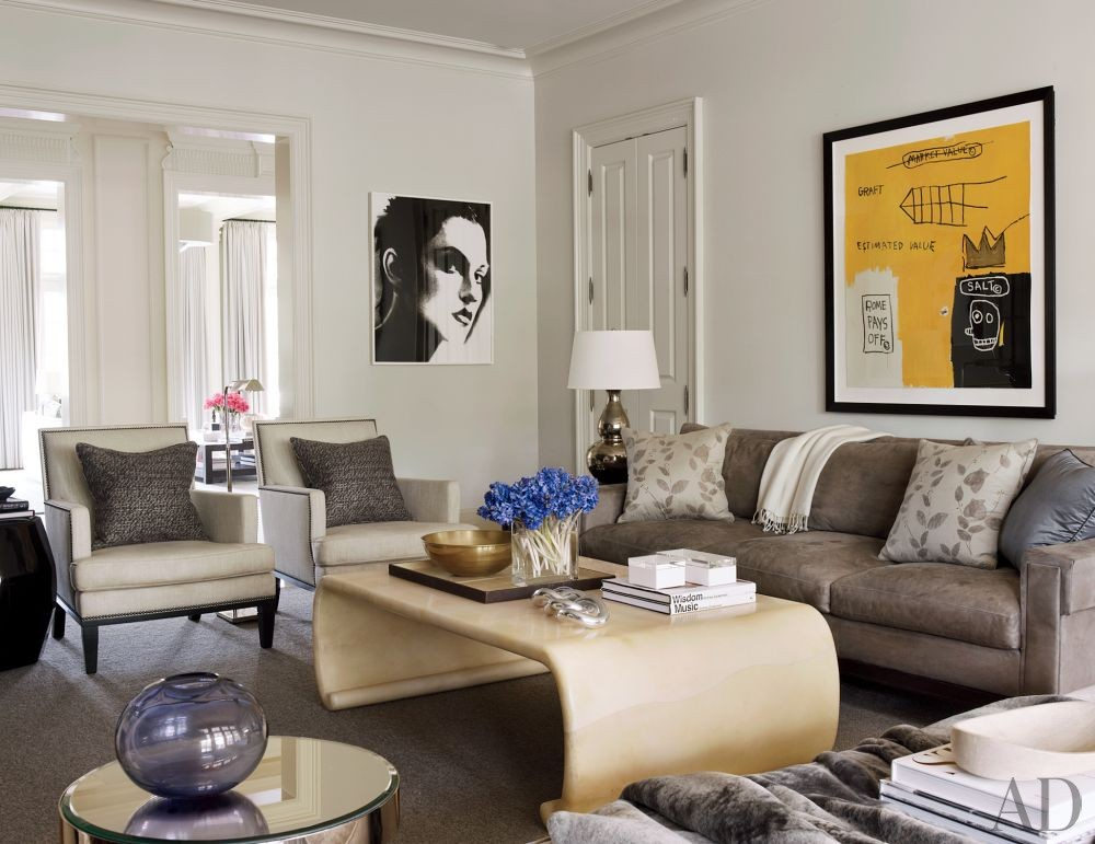 Contemporary Living Room by S. Russell Groves in Raleigh, North Carolina