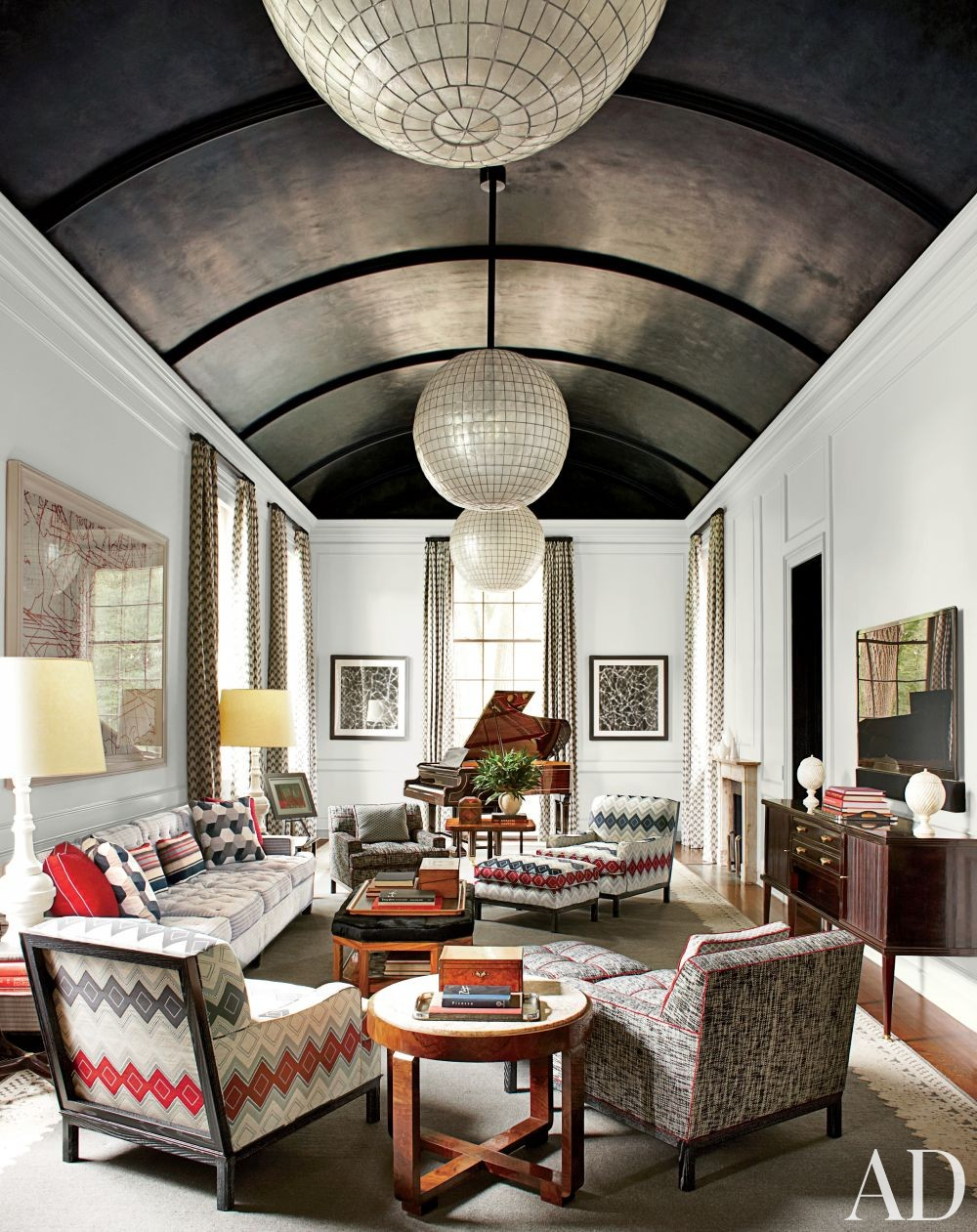 Contemporary Living Room by S.R. Gambrel Inc. and Oliver Cope Architect in Old Westbury, New York
