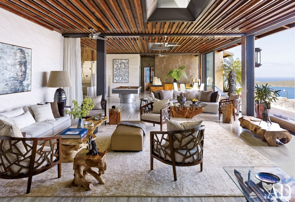 Contemporary Living Room by Tony Ingrao and Randy Kemper in St. John, U.S. Virgin Islands