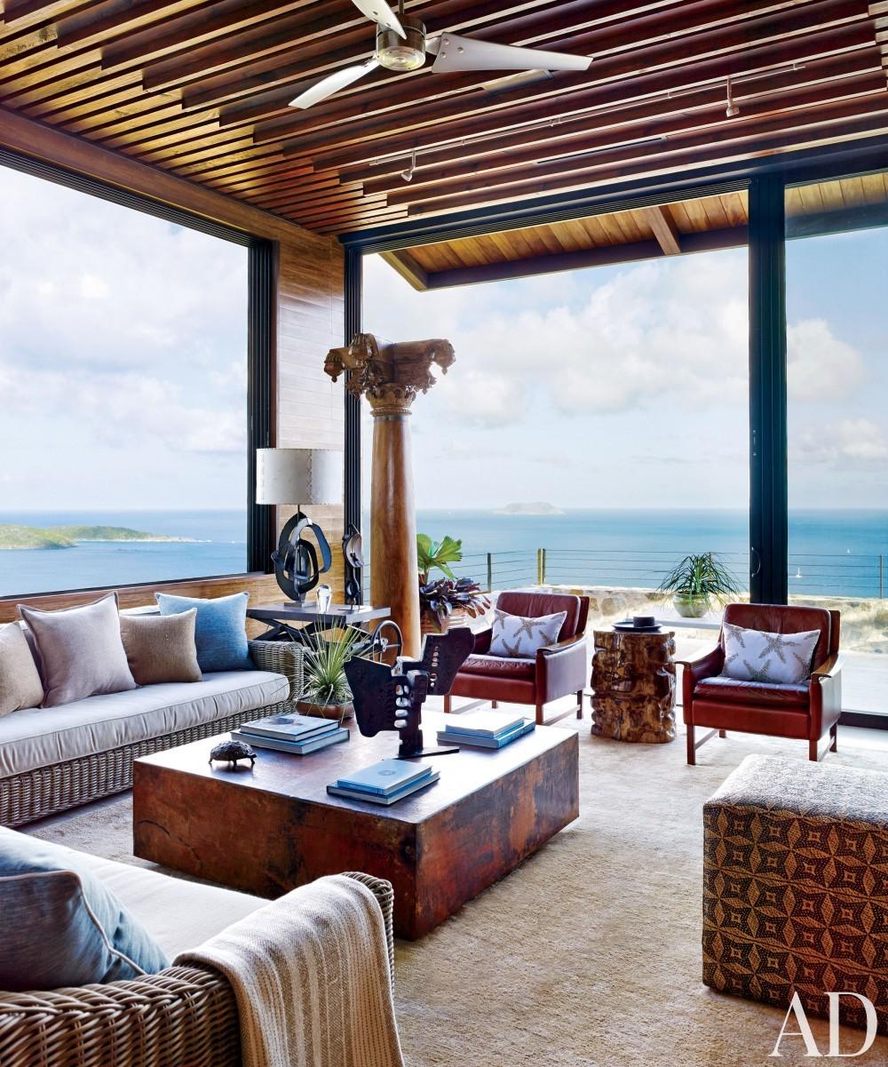 Contemporary Living Room by Tony Ingrao and Randy Kemper in St. John, U.S. Virgin Islands