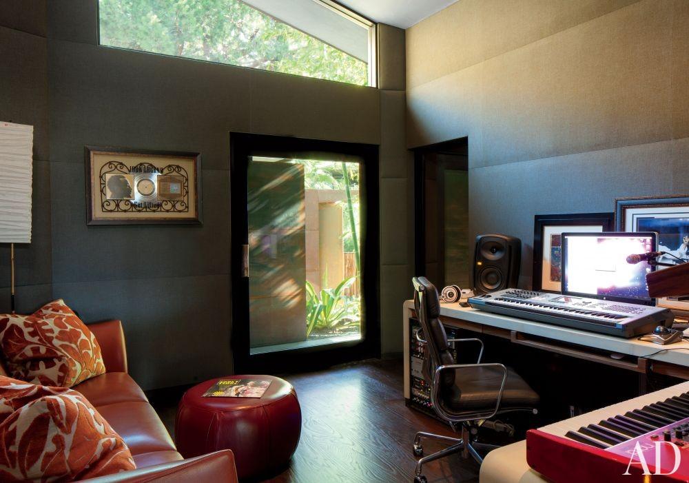Contemporary Media/Game Room by Desiderata Design in Los Angeles, California