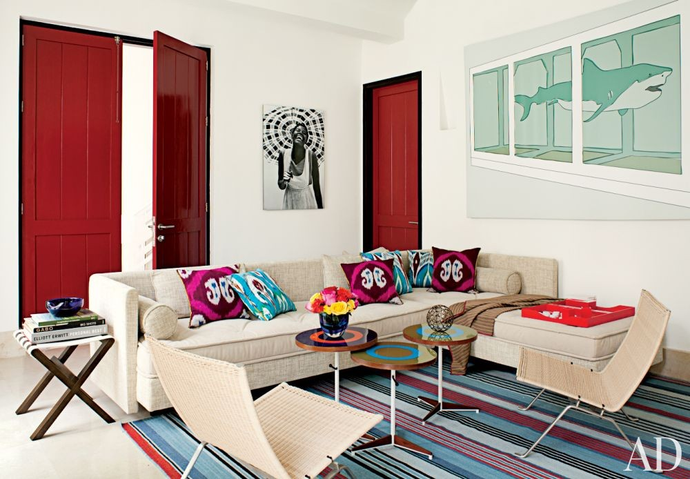 Contemporary Media/Game Room by Richard Mishaan Design in Cartagena, Columbia