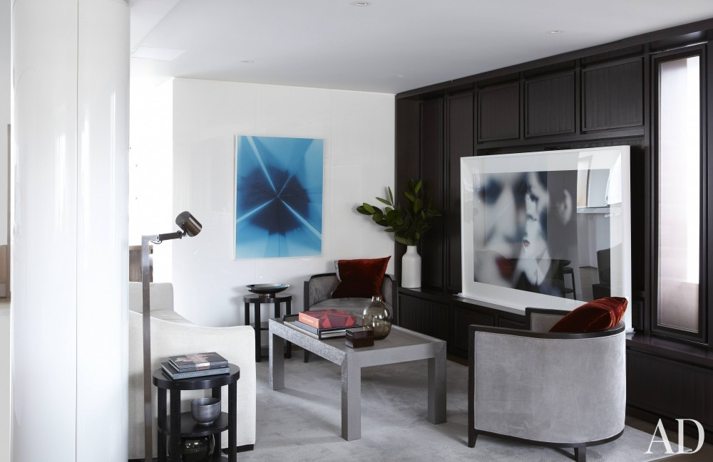 Contemporary Media/Game Room by S. Russell Groves and S. Russell Groves in New York, New York