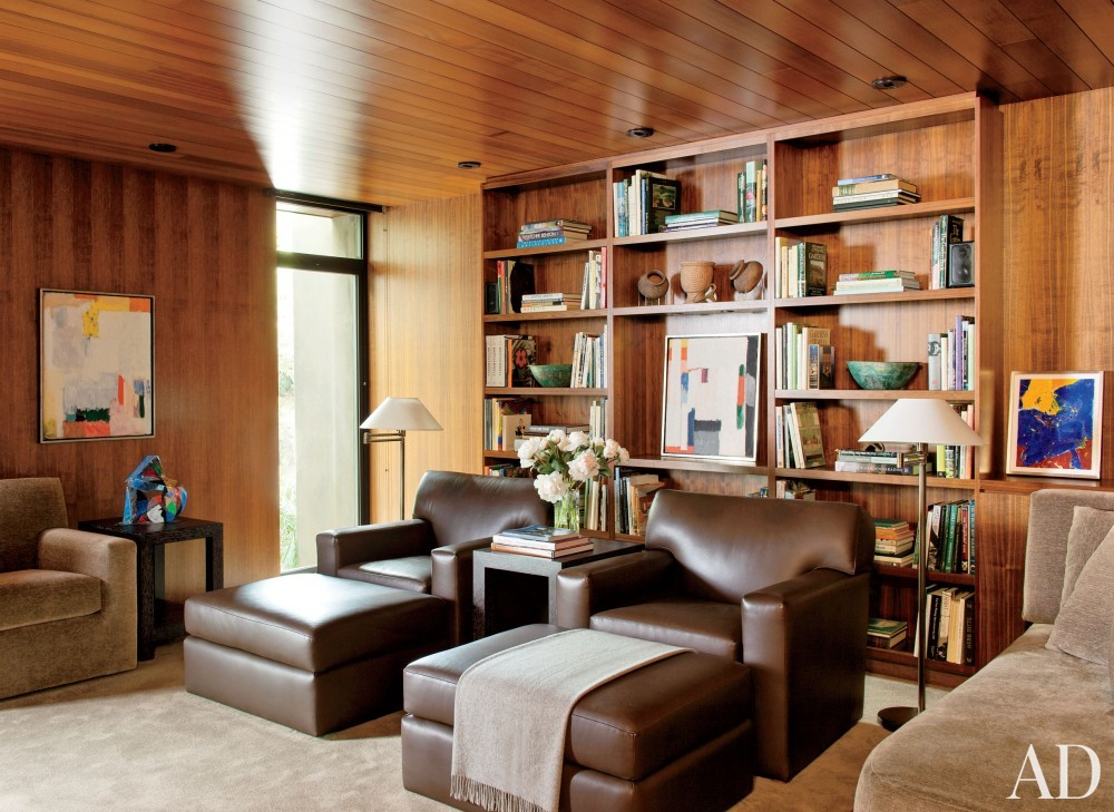 Contemporary Office/Library by Boehm Design Associates and Marmol Radziner in Beverly Hills, California
