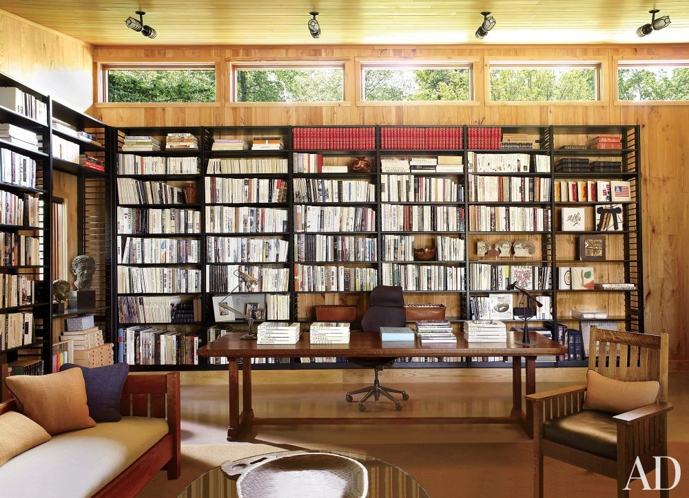 Contemporary Office/Library by Ike Kligerman Barkley Architects in Hudson Valley, New York