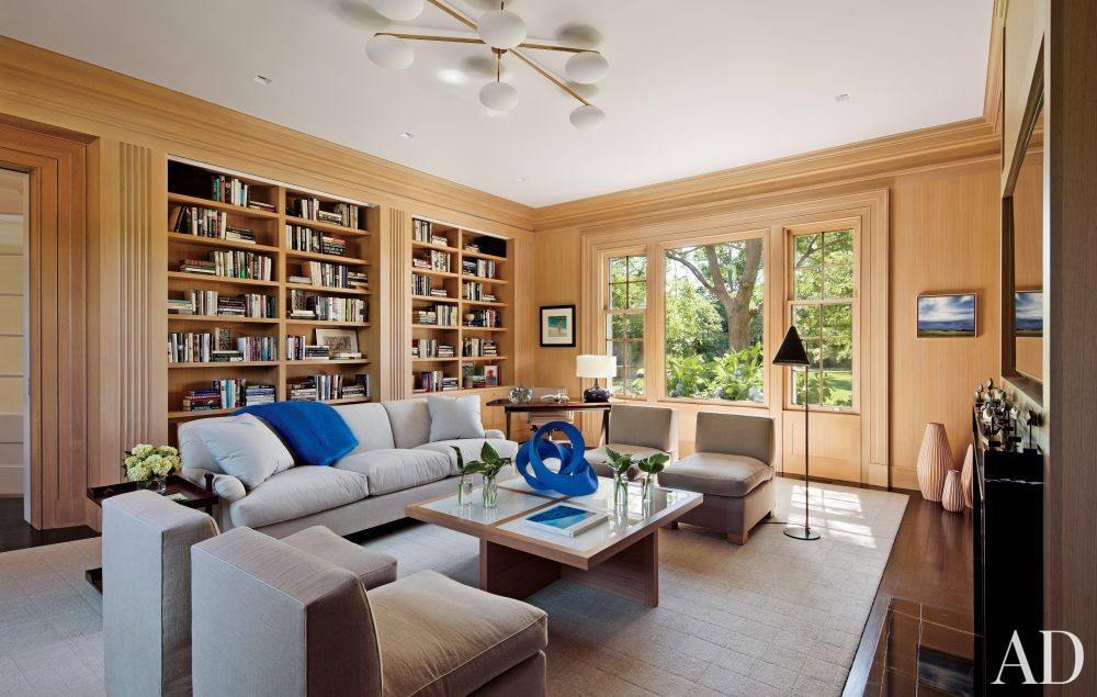 Contemporary Office/Library by Shelton, Mindel & Associates and Robert A.M Stern in East Hampton, New York