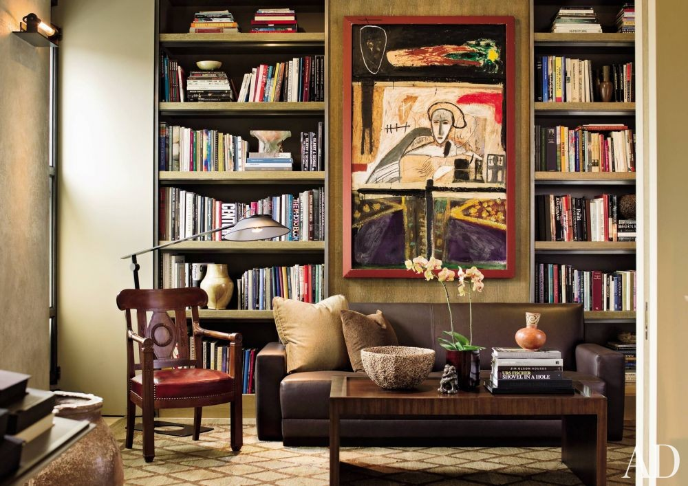 Contemporary Office/Library by Terry Hunziker in Seattle, Washington